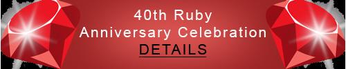 40th Ruby Anniversary Celebration